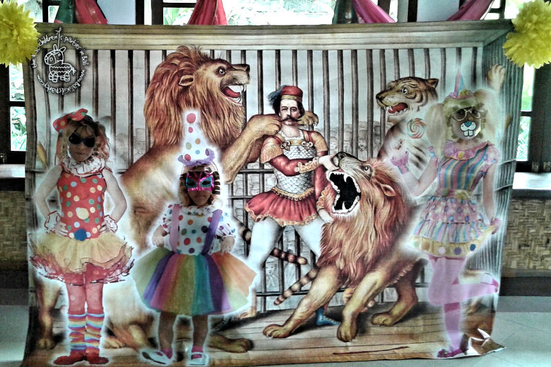 Circus Banner with Cut-Outs