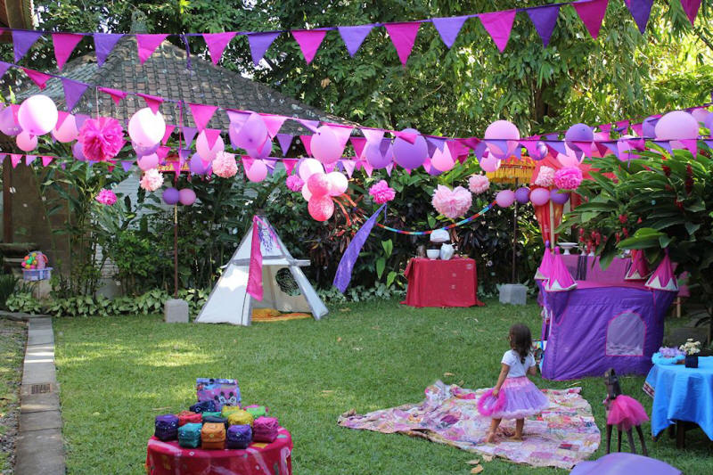 Purple Tipi Party Decorations