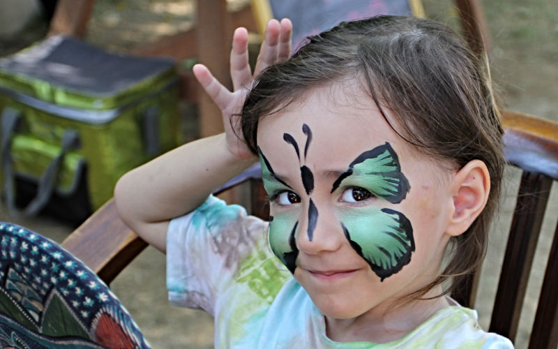 Butterfly Girl Face Paint