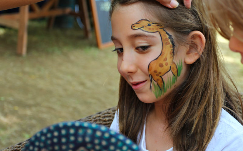 Giraffe Girl Face Paint