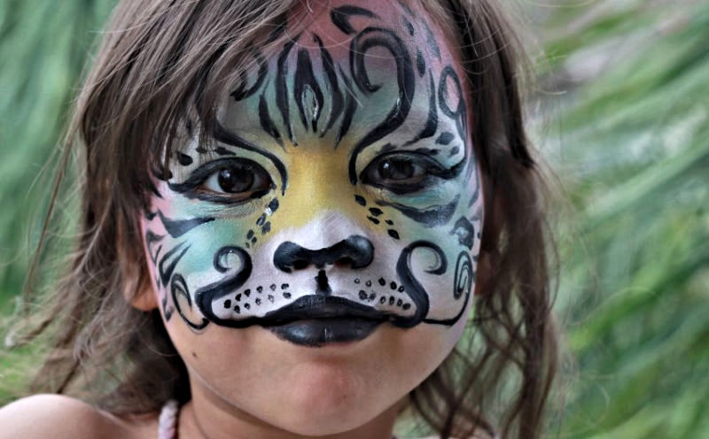 Fantasy Jungle Animal Mask Face Painting