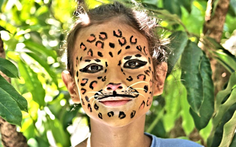 Leopard Boy Face Paint