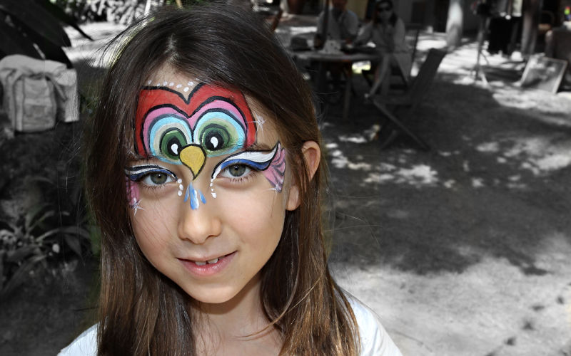 Owl Girl Face Paint