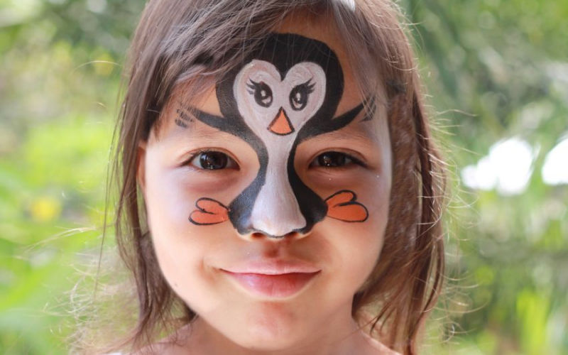 Penguin Girl Face Paint