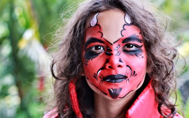 Red Devil Face Paint