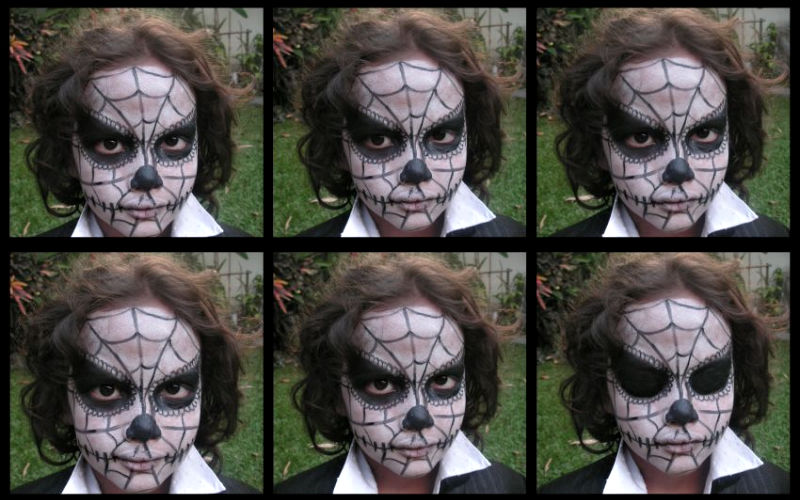 Angry Spider Zombie Boy Face Paint
