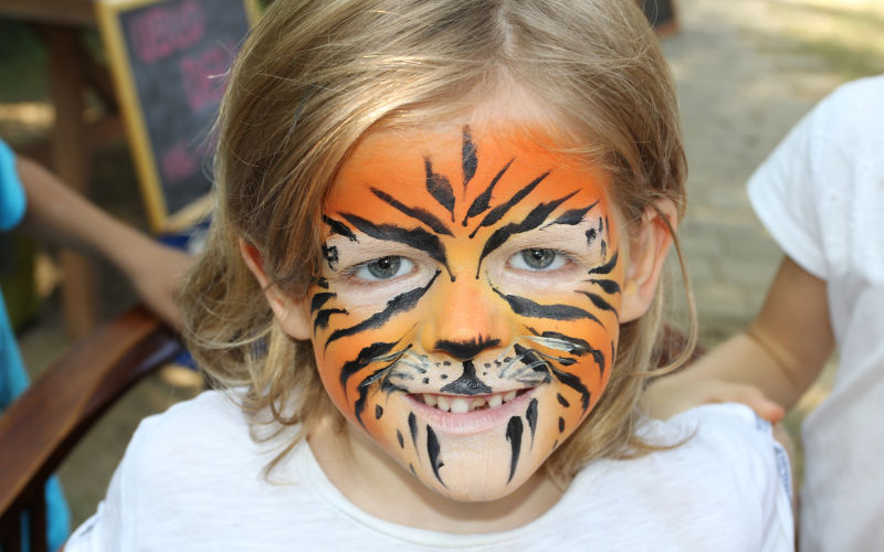 Tiger Boy Face Paint