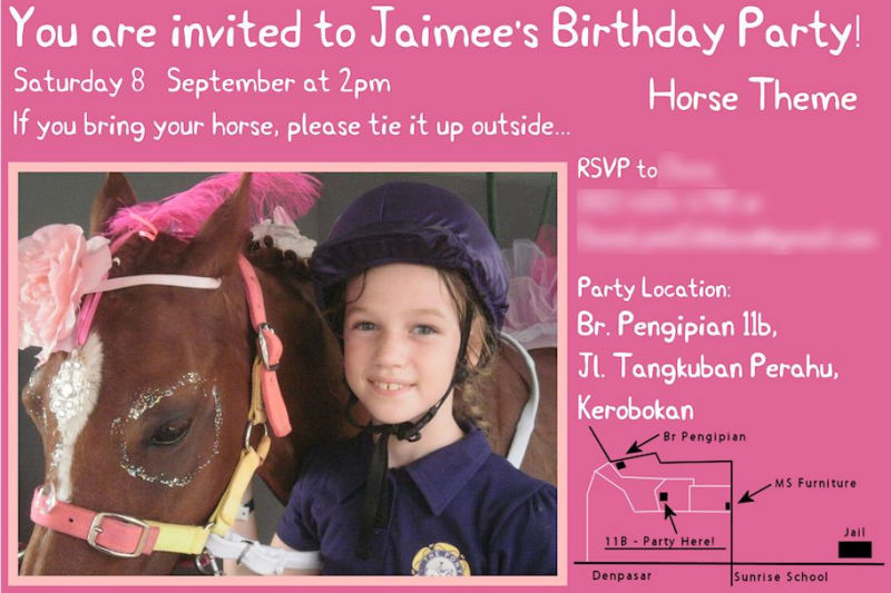 Horse Party Invitation