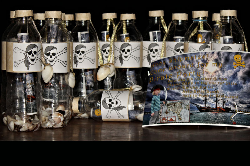 Pirate Party Invitation in a Bottle