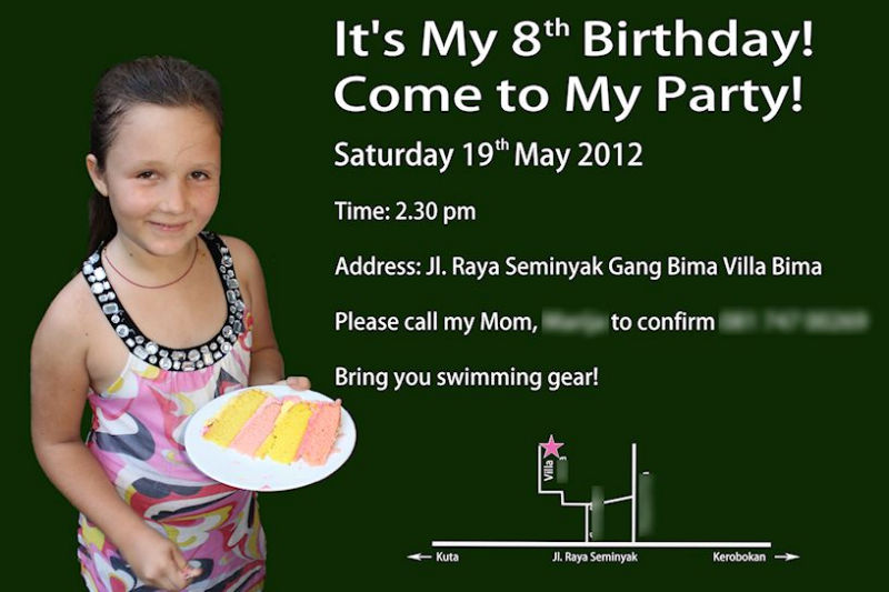 Luna Party Invitation