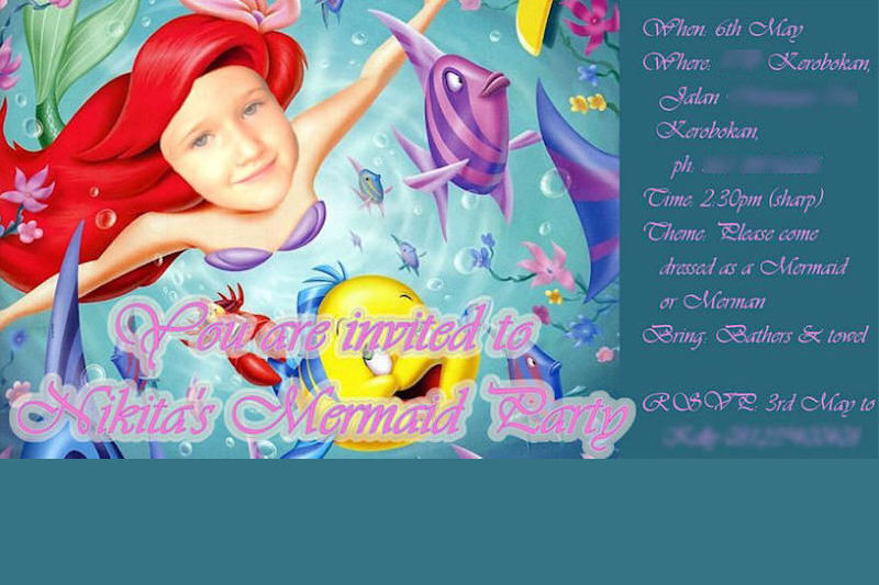 Mermaid Party Invitation