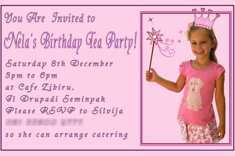 Nela Party Invitation