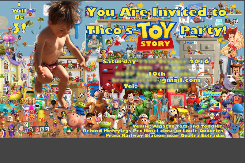 Theo's Toy Story Invitation