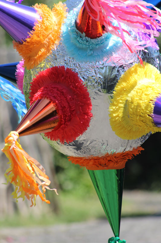 Mexican Traditional Star Pinata Detail
