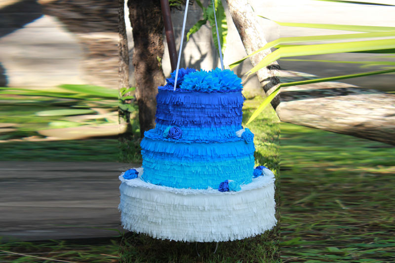 Blue Wedding Cake Pinata