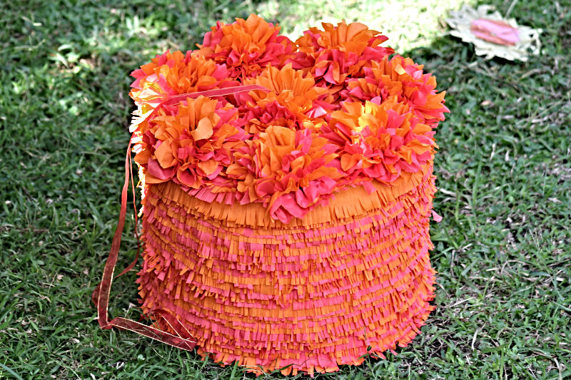 Orange Wedding Cake Pinata