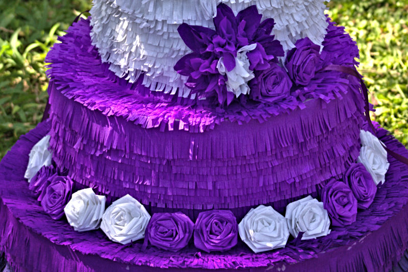 Purple Wedding Cake Pinata