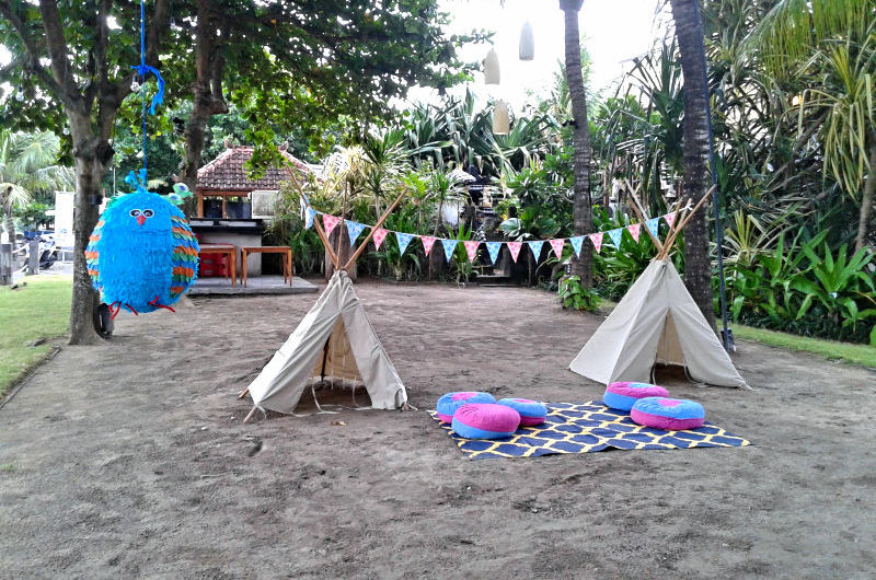Tipi Corner at a Weddin Party